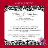 Zaproszenia Zaproszenie - personalizacja kolekcja DAMASK