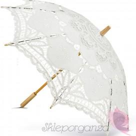 Parasolka classic lace biała