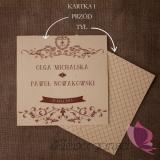 Zaproszenia Zaproszenie - personalizacja kolekcja VINTAGE