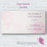 Zaproszenia Zaproszenie - personalizacja kolekcja PIWONIA
