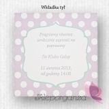 Zaproszenia Zaproszenie - personalizacja kolekcja KROPKI 2