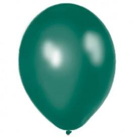 Balony METALICZNE ciemnozielone 30 cm, 100 sztuk