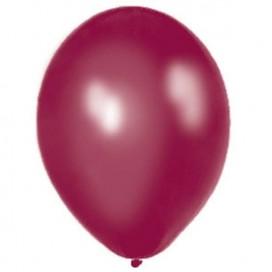Balony METALICZNE śliwkowe 30 cm, 100 sztuk