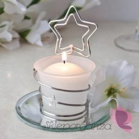 Szkło, świeczniki, świece Świecznik gwiazdka