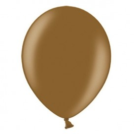 Balony METALICZNE czekoladowe 30 cm, 100 sztuk