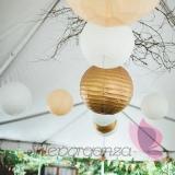 Papierowe lampiony kule Lampion dekoracyjny, kula metaliczna złota 35cm