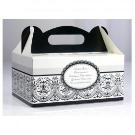 Pudełko na ciasto weselne - Czarne