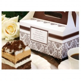 Pudełka na tort Pudełko na ciasto weselne - Brązowe