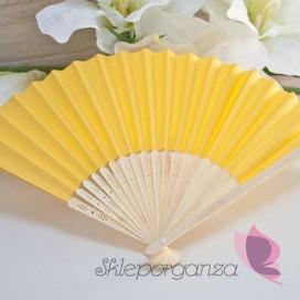 Wachlarz papierowy żółty