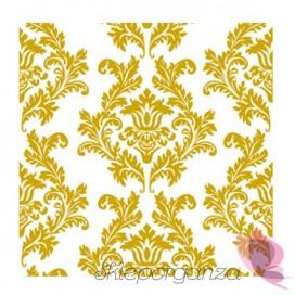 Serwetki biało-złote 3 warst. 33x33, 20 sztuk