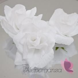 Róże do przylepiania białe, 24 szt