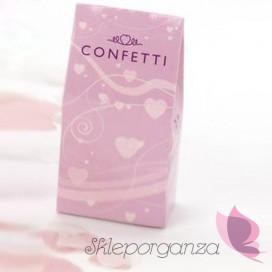 Konfetti papierowe różowe