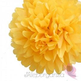 Papierowy kwiat, żółty, 35cm