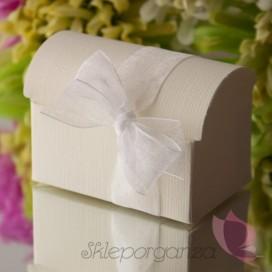 Pudełko kuferek kremowy JEDWAB