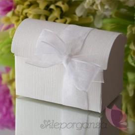 Pudełko kuferek biały JEDWAB