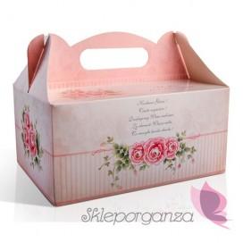 Pudełko na ciasto RÓŻA