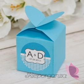Pudełka Pudełko serce niebieskie - personalizacja