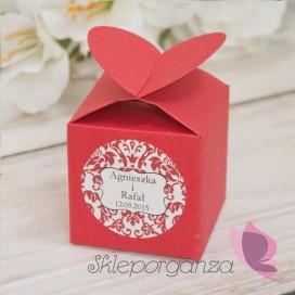 Pudełka Pudełko serce czerwone - personalizacja
