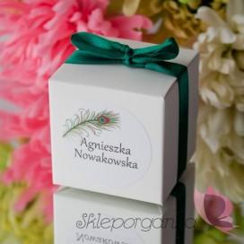 Pudełko kostka biała - personalizacja WINIETKA
