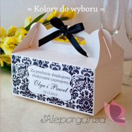 Pudełka na ciasto Pudełko na ciasto - personalizacja kolekcja DAMASK