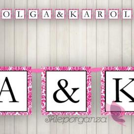 Litera/znak do baneru - personalizacja kolekcja DAMASK