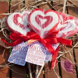 Lizak serce czerwone- personalizacja - kolekcja LOVE