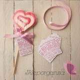 Lizak serce różowe- personalizacja - kolekcja LOVE