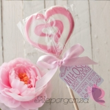 Lizaki Lizak serce różowe- personalizacja - kolekcja LOVE