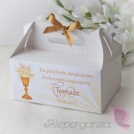Pudełko na ciasto - personalizacja kolekcja KOMUNIA