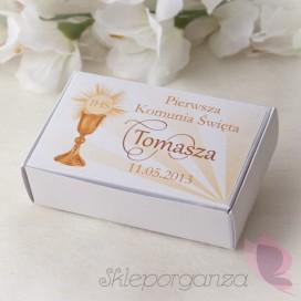 Pudełko prostokąt biały - personalizacja kolekcja KOMUNIA