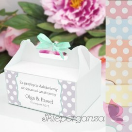 Pudełko na ciasto - personalizacja kolekcja KROPKI