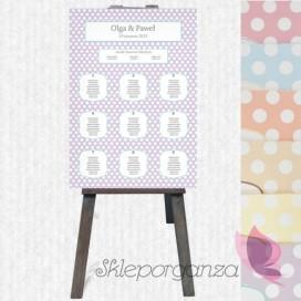 Plan stołów Plan stołów - personalizacja kolekcja KROPKI