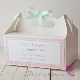 Pudełko na ciasto - personalizacja kolekcja MODERN