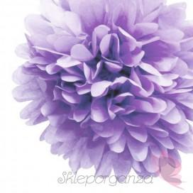 Papierowe kule kwiatowe pompony Papierowy kwiat, liliowy, 35cm