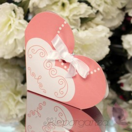 Pudełko serce suknia