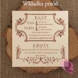 Zaproszenie - personalizacja kolekcja VINTAGE 2