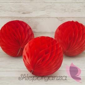 Papierowe kule plaster miodu Papierowa kula czerwona 20cm