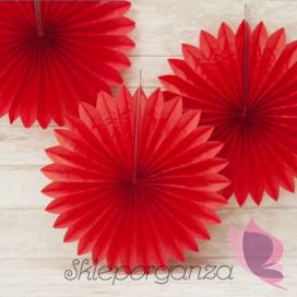 Rozetka czerwona 40cm