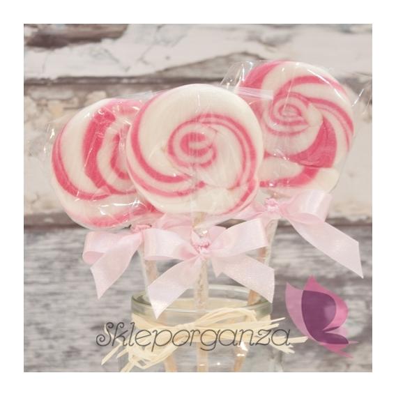 Lizak okrągły różowy