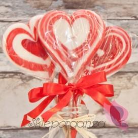 Lizak serce czerwone