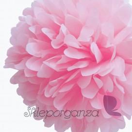 Papierowy kwiat, różowy, 35cm