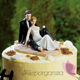 Porcelanowa figurka na tort - Na plaży