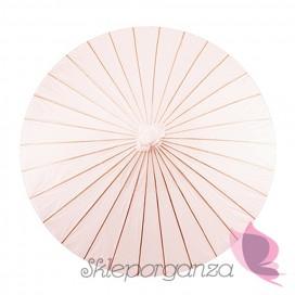 Parasolka pudrowy róz