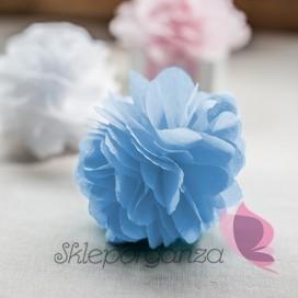 Papierowy kwiat, jasnoniebieski, 15cm