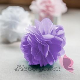 Papierowy kwiat, liliowy, 15cm
