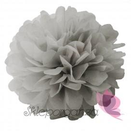 Papierowy kwiat, szary, 25cm