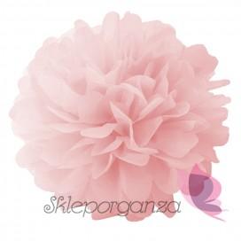 Papierowy kwiat, jasnoróżowy, 25cm