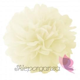 Papierowy kwiat, kremowy, 25cm