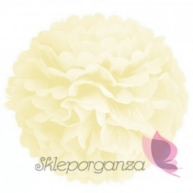 Papierowy kwiat, kremowy, 50cm