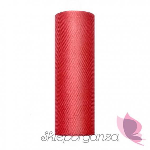 Tiul Tiul czerwony, rolka 15cm x 9m